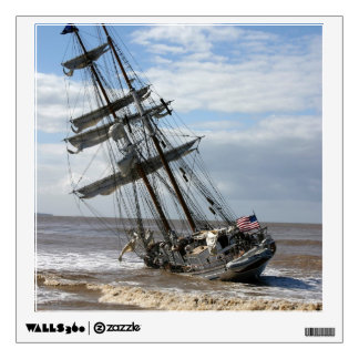 Grounded Ship Wall Sticker