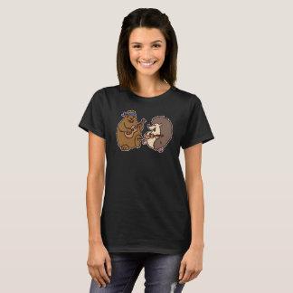Groundhog and Hedgehog Playing Ukuleles Shirt