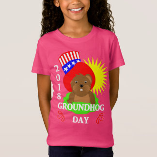 Groundhog Day 2018 Celebration Patriotic Graphic T-Shirt