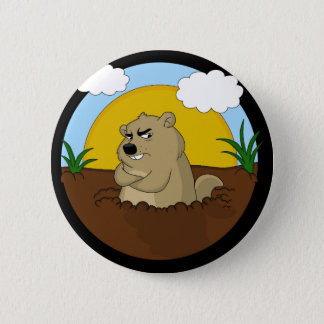 Groundhog day 2 inch round button