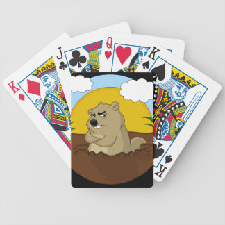 Groundhog day bicycle playing cards