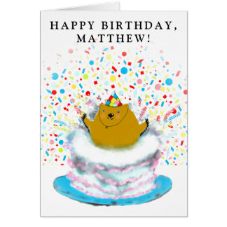 Groundhog Day Birthday Card