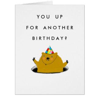 GROUNDHOG DAY BIRTHDAY CARD