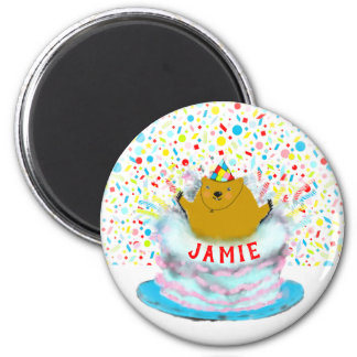 Groundhog Day Birthday Magnet