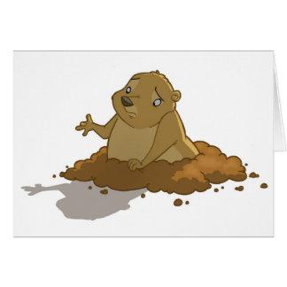 Groundhog Day Card (Blank)