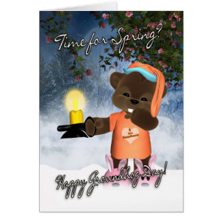 Groundhog Day Card - Cute Groundhog Day Card