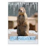 Groundhog Day Card, Happy Groundhog Day
