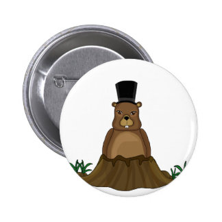 Groundhog day - Cartoon style 2 Inch Round Button