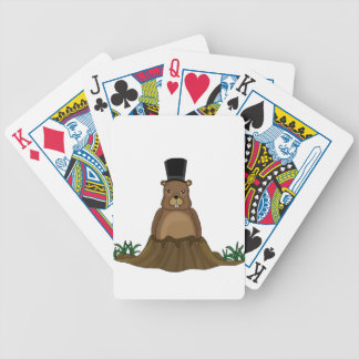 Groundhog day - cartoon style bicycle playing cards