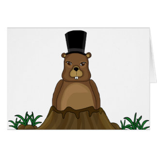 Groundhog day - Cartoon style Card