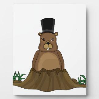 Groundhog day - cartoon style photo plaque
