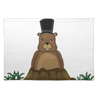 Groundhog day - cartoon style place mats