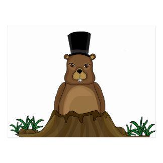 Groundhog day - Cartoon style Postcard