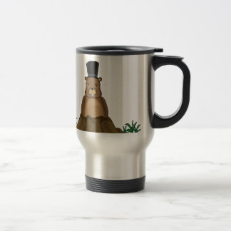 Groundhog day - Cartoon style Travel Mug