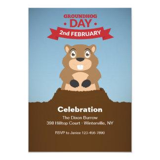 Groundhog Day Celebration Invitation