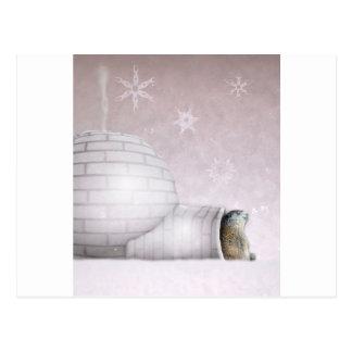 Groundhog Day - Chillin' at the igloo Postcard