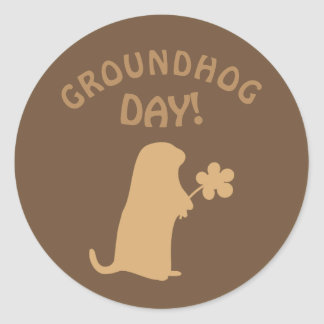Groundhog Day Classic Round Sticker