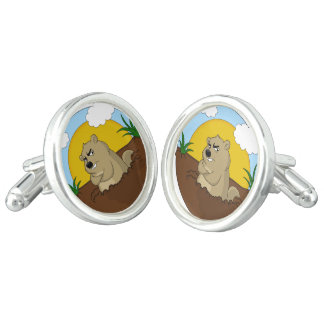 Groundhog day cufflinks