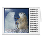 Groundhog Day Ice Sculpture Card