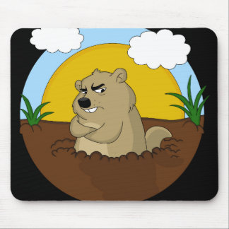 Groundhog day mouse pad
