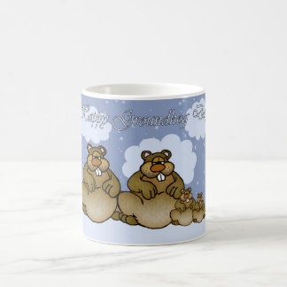 Groundhog Day Mug With Cute Groundhog Family