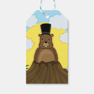 Groundhog day pack of gift tags