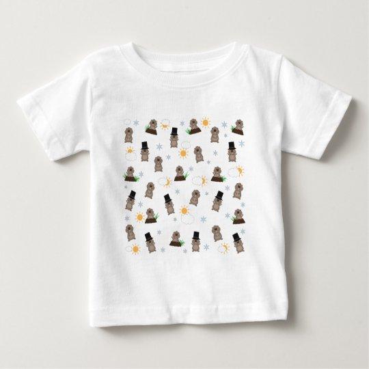 Groundhog Day Pattern Baby T-Shirt