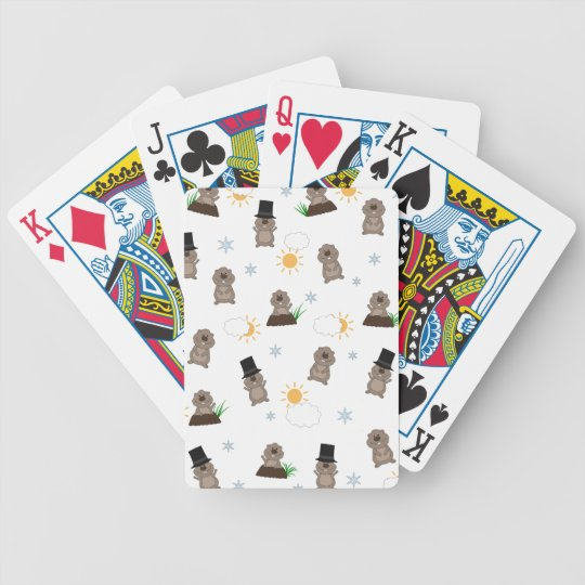 Groundhog Day Pattern Bicycle Playing Cards