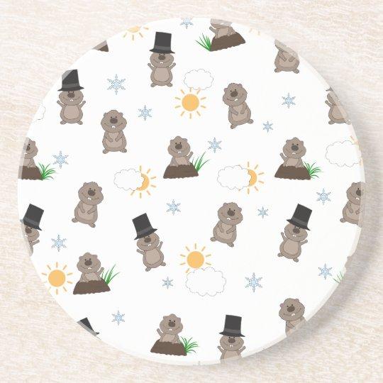 Groundhog Day Pattern Coaster