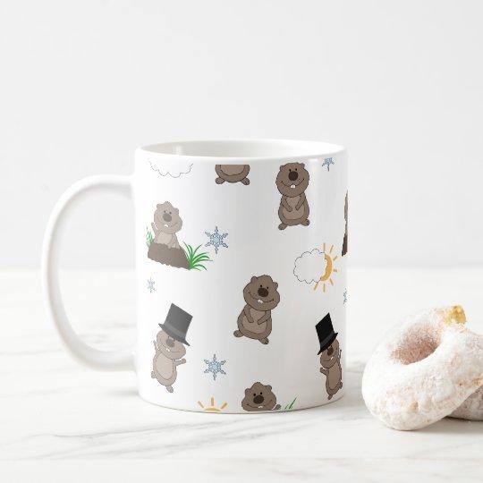 Groundhog Day Pattern Coffee Mug