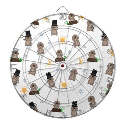 Groundhog Day Pattern Dartboard