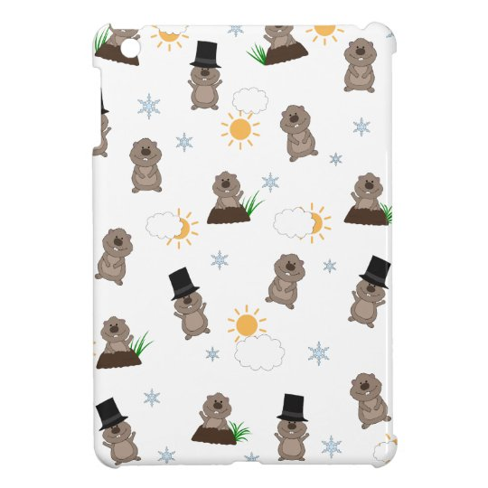 Groundhog Day Pattern iPad Mini Cases