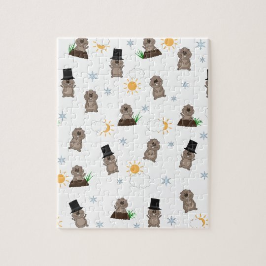 Groundhog Day Pattern Jigsaw Puzzle