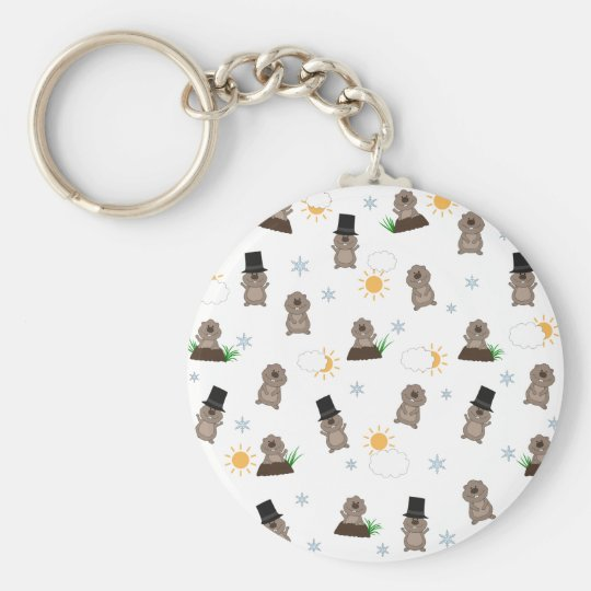 Groundhog Day Pattern Keychain