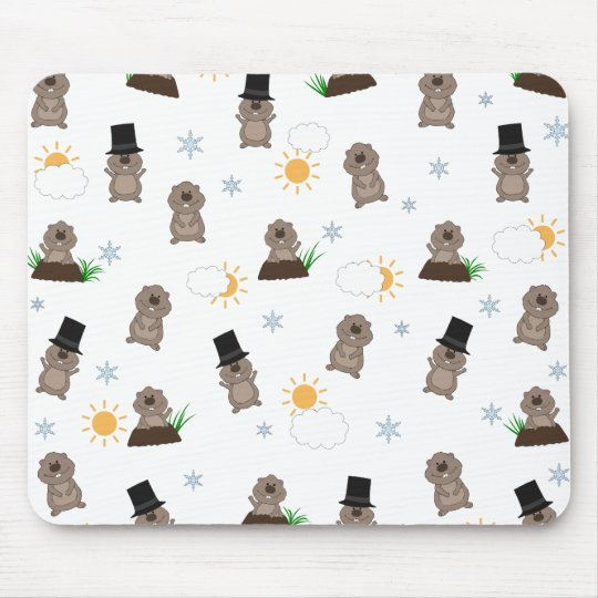Groundhog Day Pattern Mouse Pad