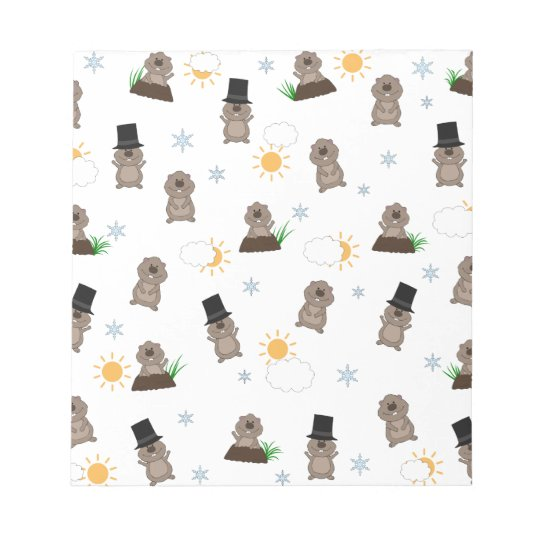 Groundhog Day Pattern Notepad