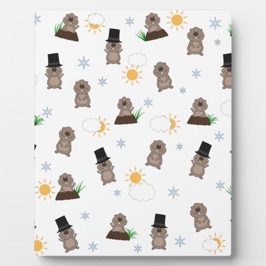 Groundhog Day Pattern Plaque