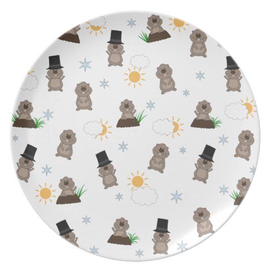 Groundhog Day Pattern Plate