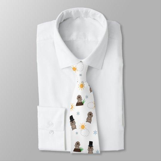 Groundhog Day Pattern Tie