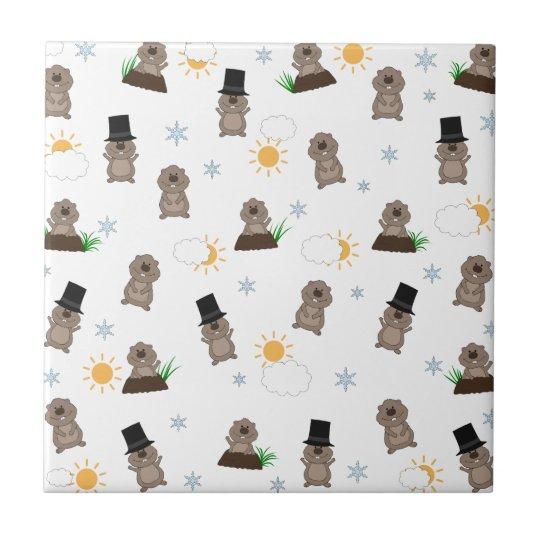 Groundhog Day Pattern Tile