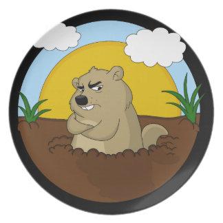 Groundhog day plate