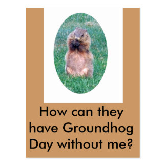 Groundhog Day Postcard