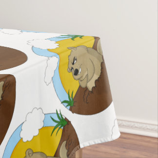 Groundhog day tablecloth