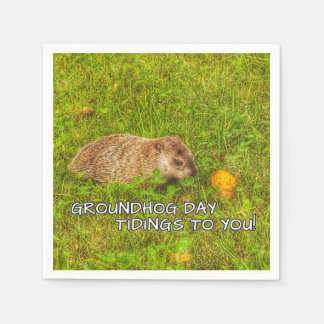 Groundhog Day tidings to you! napkins