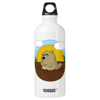 Groundhog day water bottle