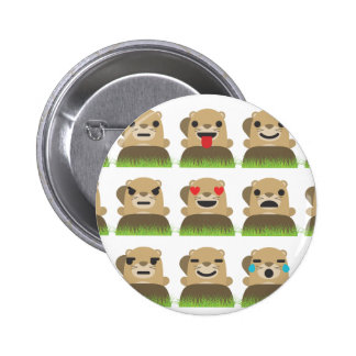 groundhog emojis 2 inch round button
