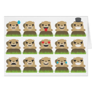 groundhog emojis card