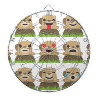 groundhog emojis dartboard
