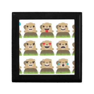 groundhog emojis gift box