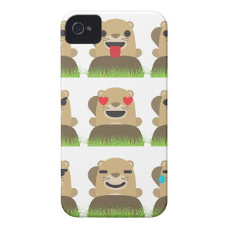groundhog emojis iPhone 4 Case-Mate case